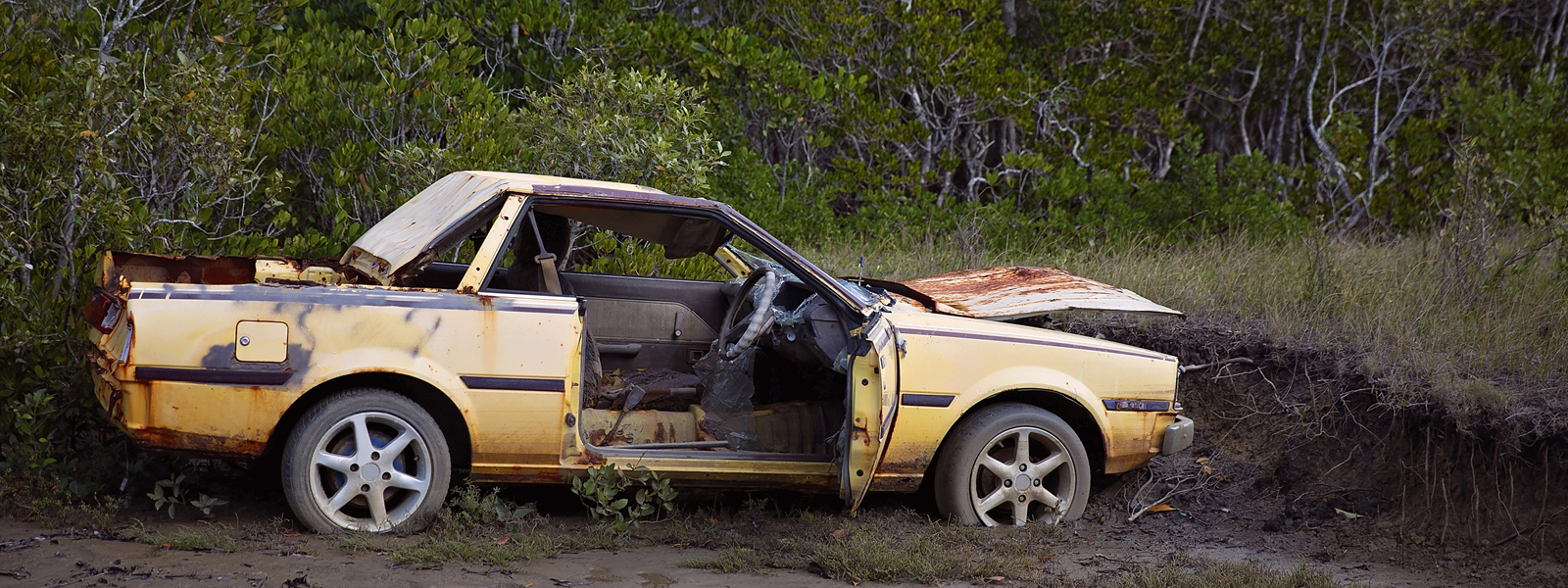 Abandoned car in the bush