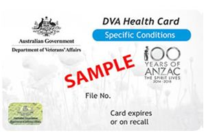 Department of veterans affairs specific conditions card