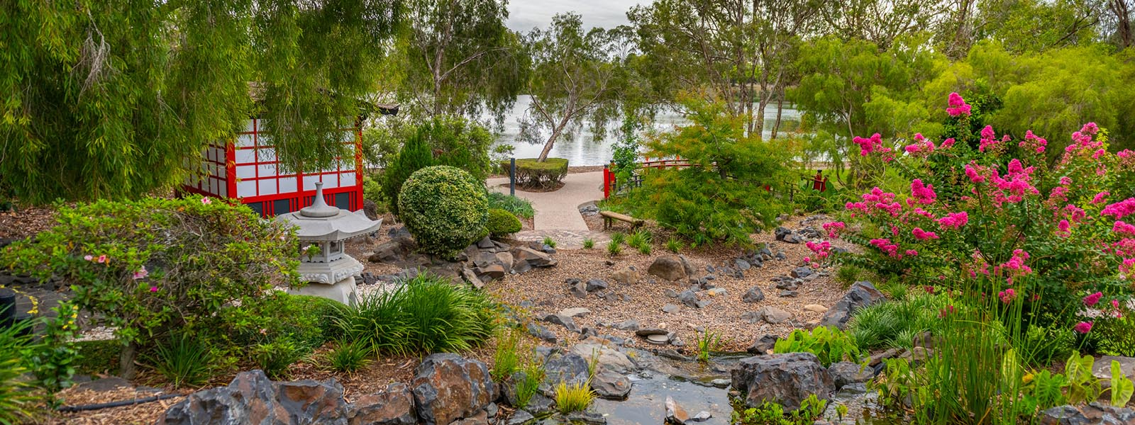 Japanese garden at the bundaberg botanic gardens web