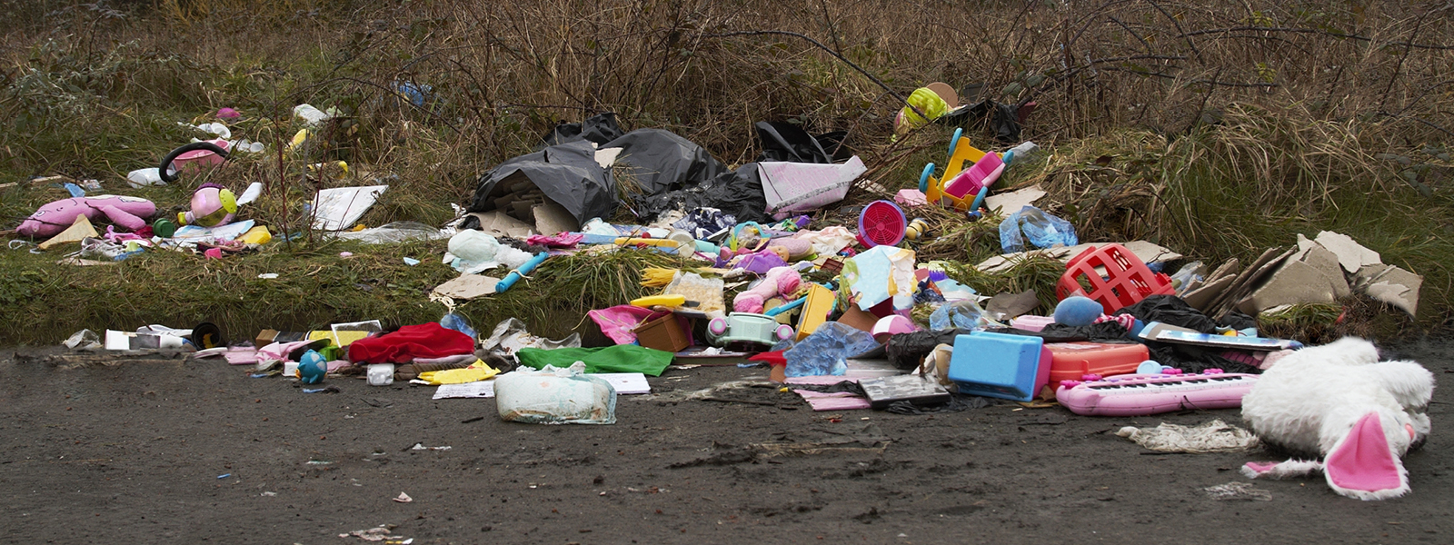 Pile of illegally dumped rubbish