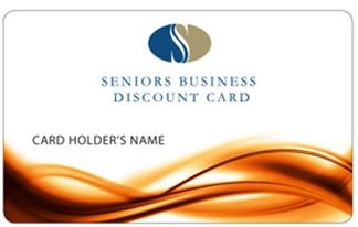 Seniors business discount card