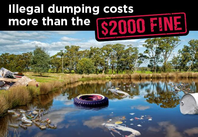 Illegal dumping costs more than the $2,000 fine!